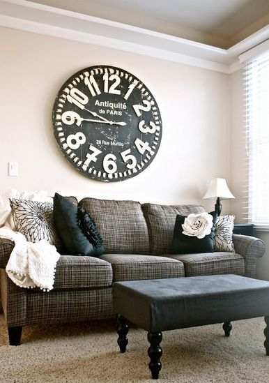 216 Best Large Wall Clock Decor Images On Pinterest | Decorating In Clock Wall Accents (Image 1 of 15)