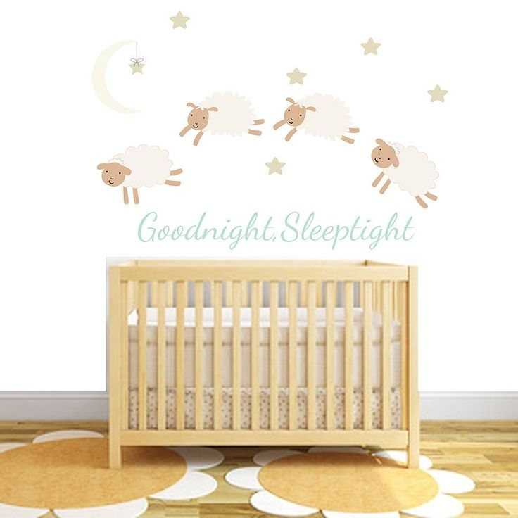 22 Best Baby Bedroom Images On Pinterest | Baby Bedroom, Baby Room With Regard To Fabric Wall Art Stickers (Image 2 of 15)