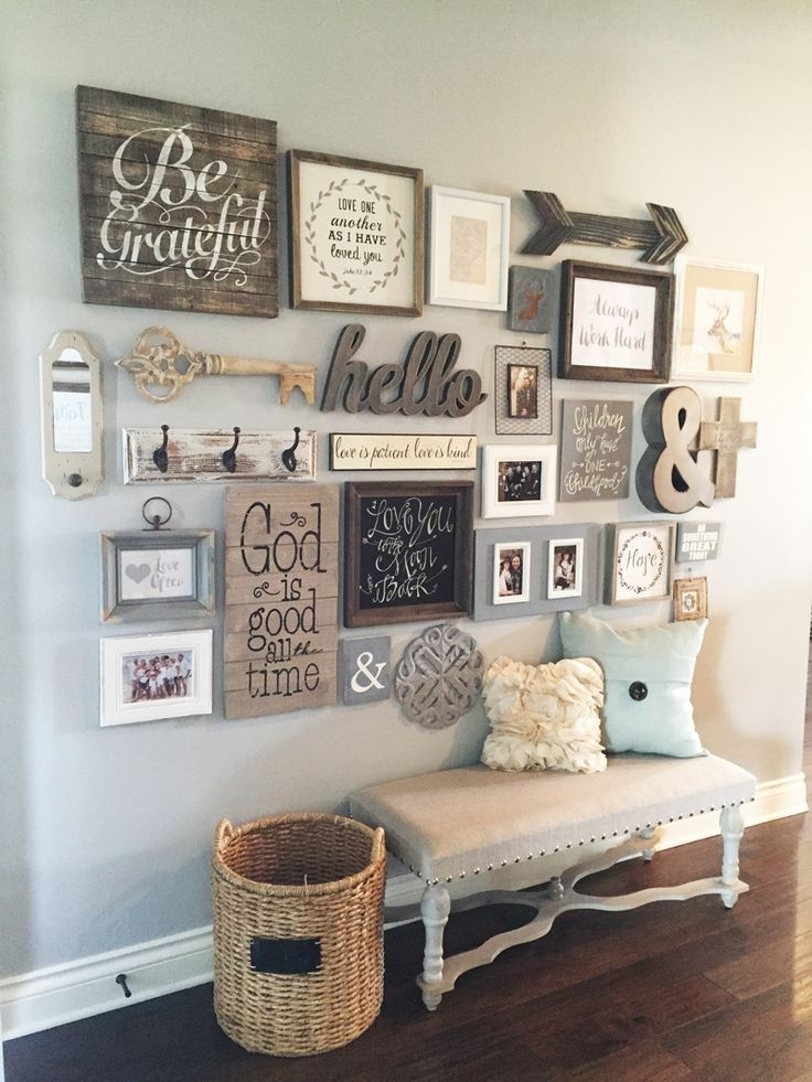 23 Rustic Farmhouse Decor Ideas Inside Entryway Wall Accents