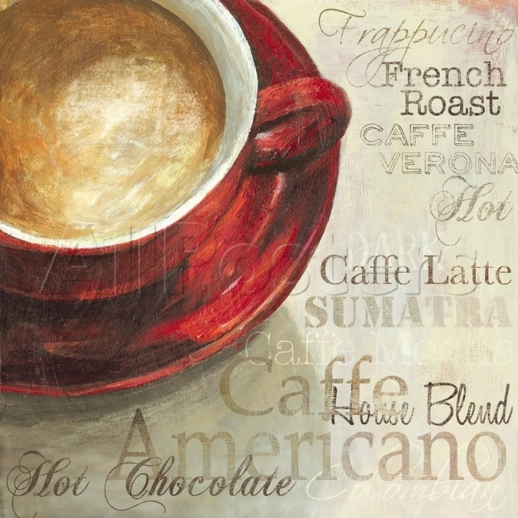 239 Best Decoupaje Té Y Cafe Images On Pinterest | Tea Time For Framed Coffee Art Prints (Image 1 of 15)