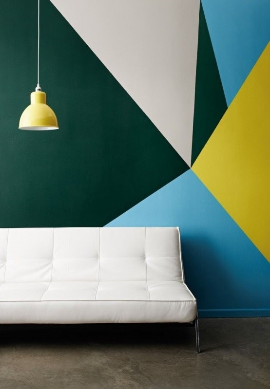 24 Stylish Geometric Wall Décor Ideas - Digsdigs pertaining to Geometric Shapes Wall Accents