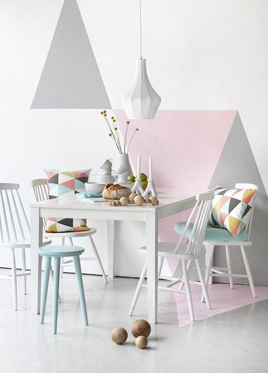 24 Stylish Geometric Wall Décor Ideas – Digsdigs Regarding Geometric Shapes Wall Accents (View 14 of 15)