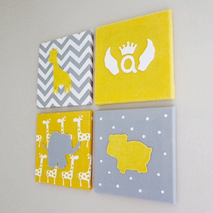 25 Best Baby Art Images On Pinterest | Baby Rooms, Bedrooms And Inside Childrens Fabric Wall Art (View 10 of 15)