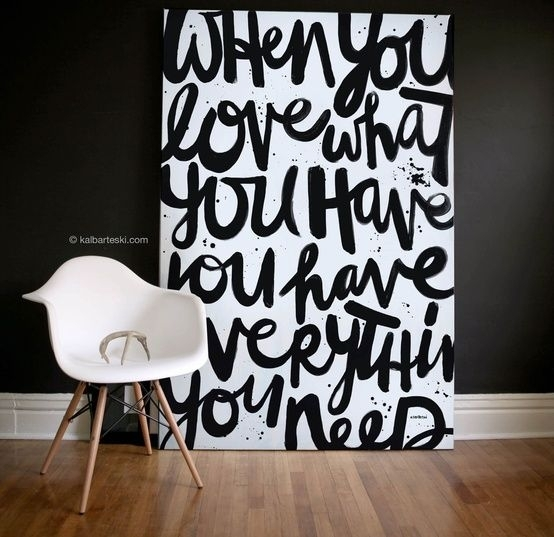 25 Creative And Easy Diy Canvas Wall Art Ideas | Canvases Pertaining To Large Canvas Wall Art Quotes (View 6 of 15)
