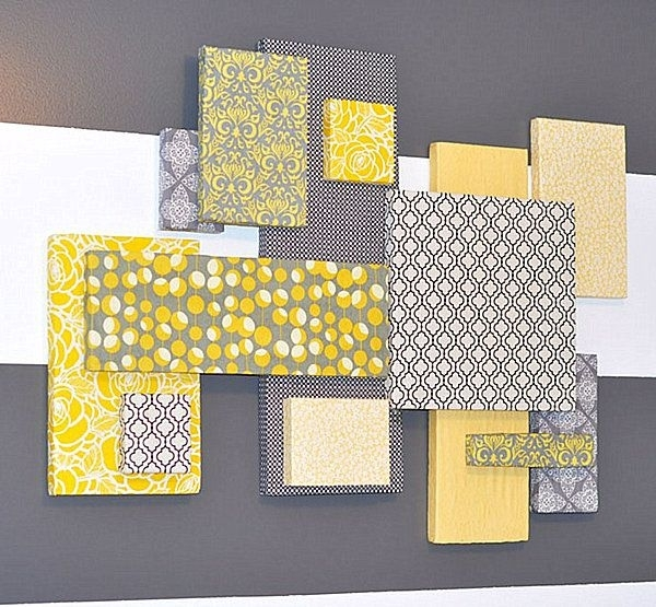 25 Diy Wall Art Ideas That Spell Creativity In A Whole New Way With Regard To Fabric Wrapped Styrofoam Wall Art (View 2 of 15)