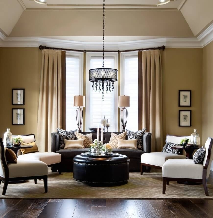 25 Gorgeous Living Rooms Featuring Comforting Earth Tones (Pictures) Intended For Earth Tones Wall Accents (Image 2 of 15)