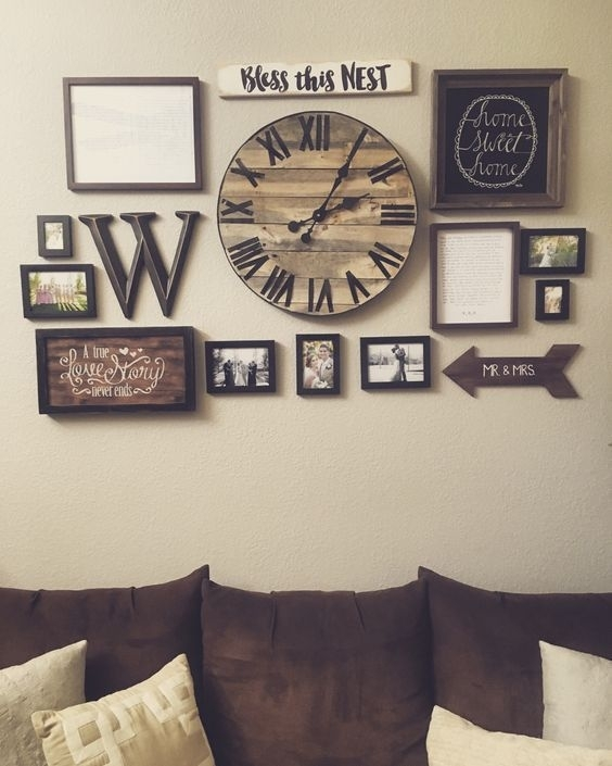 25 Must Try Rustic Wall Decor Ideas Featuring The Most Amazing Inside Clock Wall Accents (View 5 of 15)