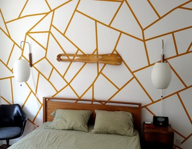 25 Pieces Of Geometric Wall Art We Want Now | Brit + Co Inside Geometric Shapes Wall Accents (View 9 of 15)