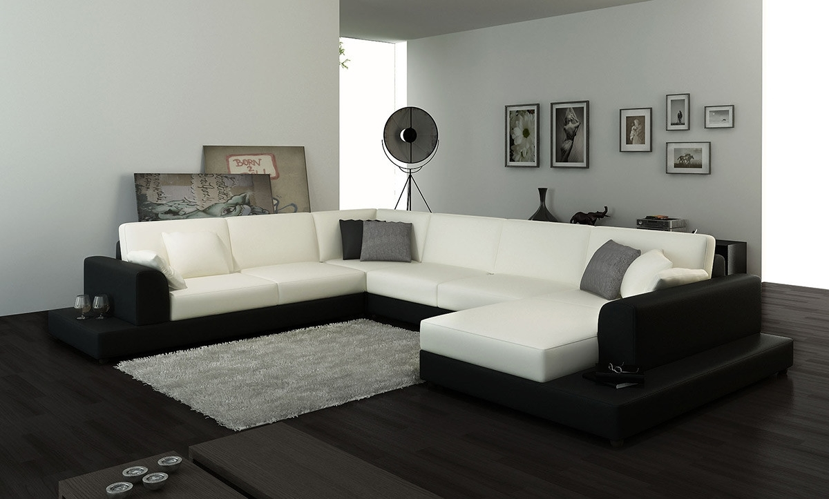 2616 Modern White Fabric Sectional Sofa In Fabric Sectional Sofas (View 10 of 10)