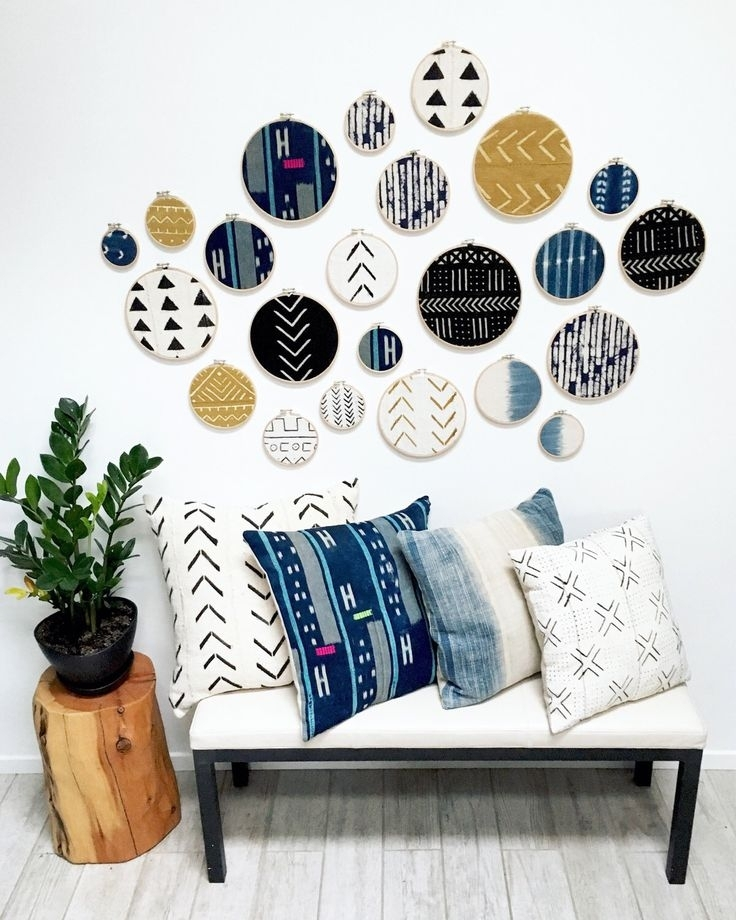 264 Best I Love Africa Images On Pinterest | Africa, African Regarding Fabric Circle Wall Art (Image 1 of 15)