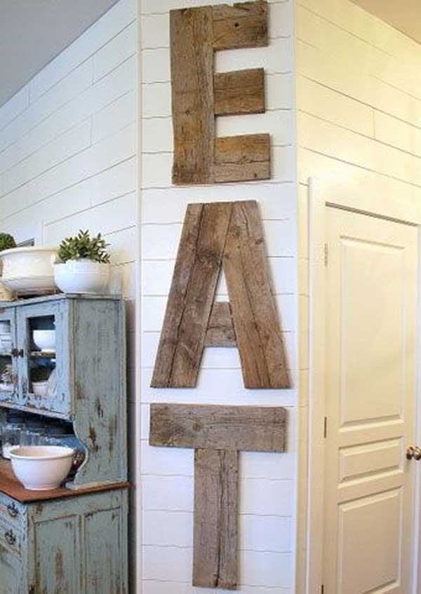 27 Best Rustic Wall Decor Ideas And Designs For 2018 Pertaining To Rustic Wall Accents (Image 5 of 15)