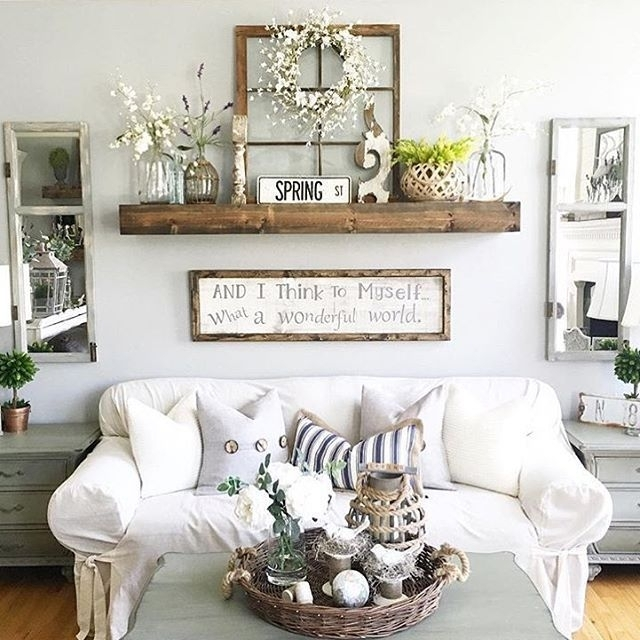 27 Rustic Wall Decor Ideas To Turn Shabby Into Fabulous | Rustic With Regard To Wall Accents For Living Room (View 3 of 15)