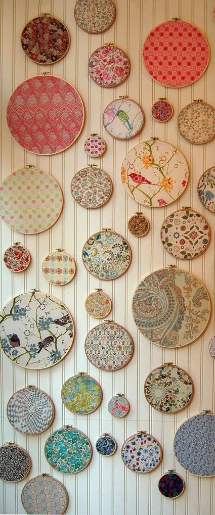 286 Best Embroidery Hoop Images On Pinterest | Embroidery Hoop Art With Regard To Fabric Hoop Wall Art (View 5 of 15)