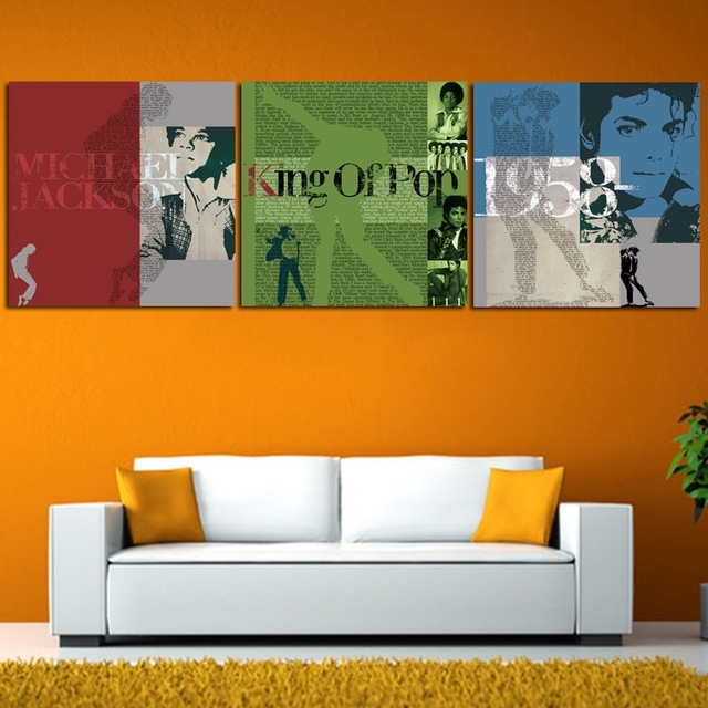 3 Panel Famous Star Michael Jackson Wall Art Picture Print Canvas Pertaining To Michael Jackson Canvas Wall Art (Image 1 of 15)