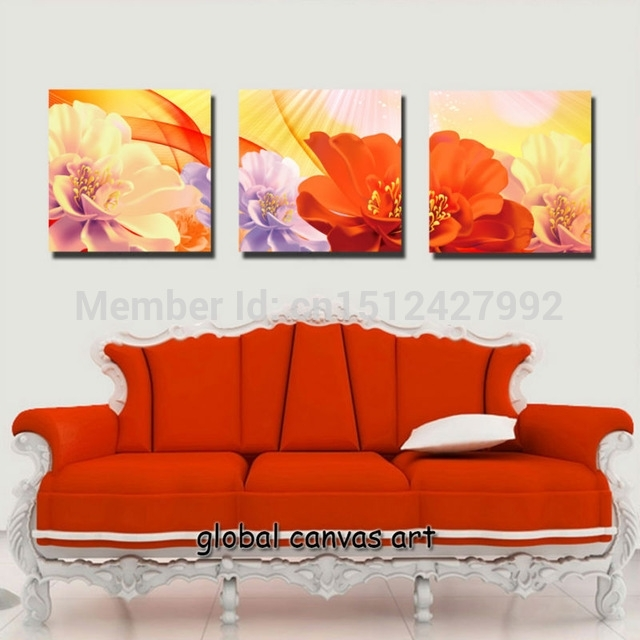 Featured Image of Orange Canvas Wall Art
