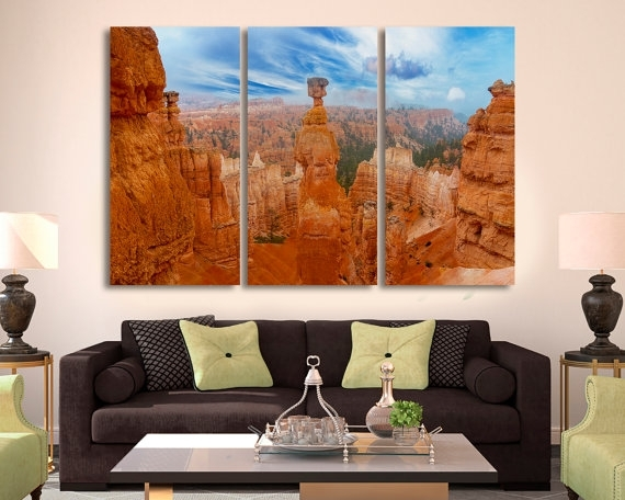 3 Panel Split Wall Art Canvas Print. Grand Canyon Photo Grand Throughout Arizona Canvas Wall Art (Photo 7 of 15)