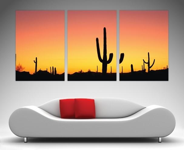3 Panel Wall Art Prints On Canvas With Regard To Arizona Canvas Wall Art (Photo 4 of 15)