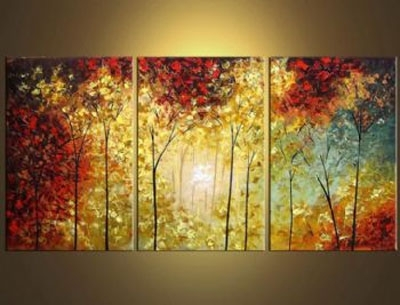 3 Pcs Landscape Canvas Art : Cheap Oil Paintings|Paintings For Pertaining To Landscape Canvas Wall Art (Image 4 of 15)
