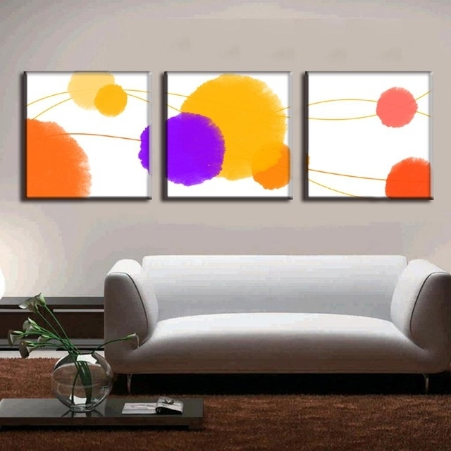 3 Pcs/set Abstract Canvas Wall Art Canvas Painting 3 Pieces The Intended For Abstract Canvas Wall Art Iii (View 9 of 15)
