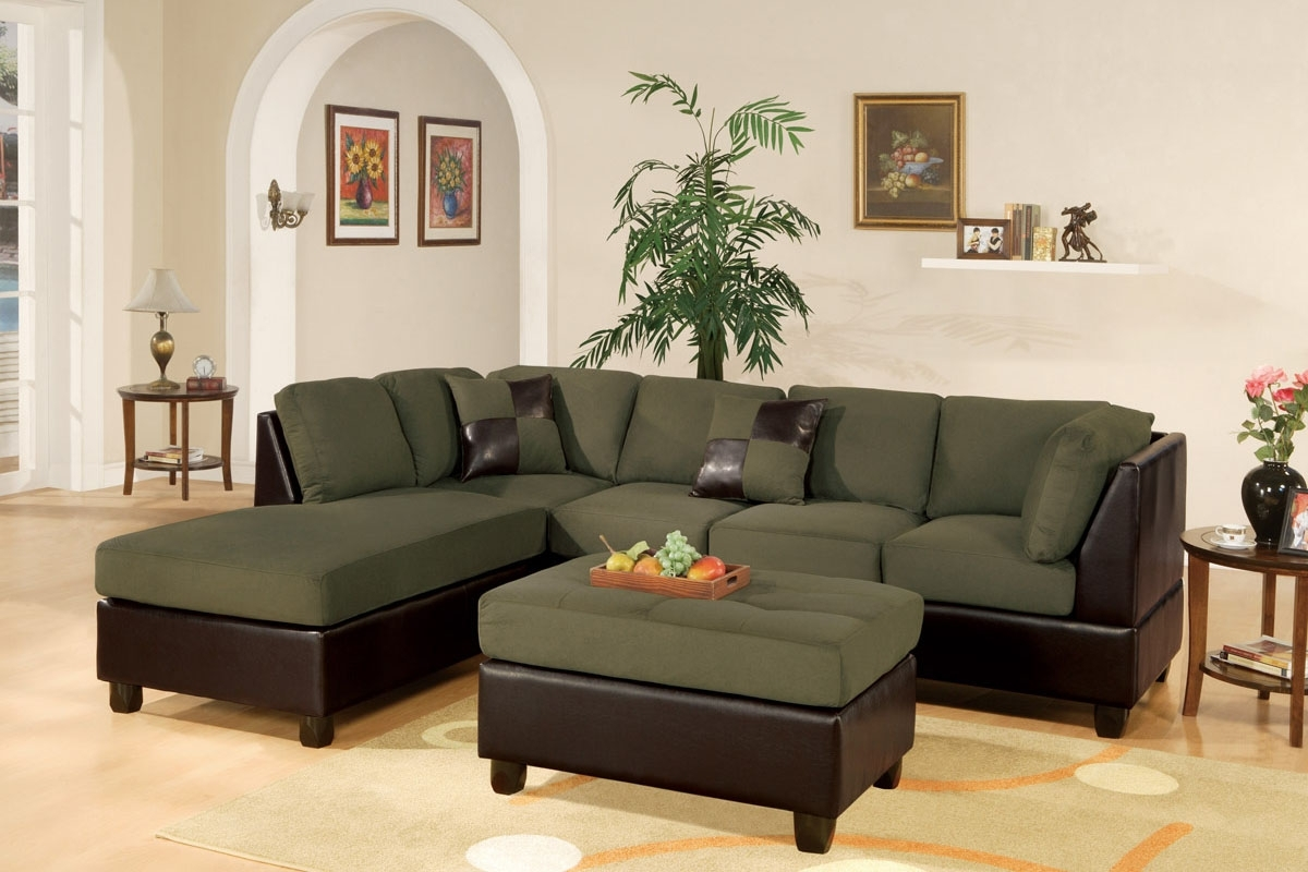 3 Piece Microfiber Plush Sectional Set inside Plush Sectional Sofas
