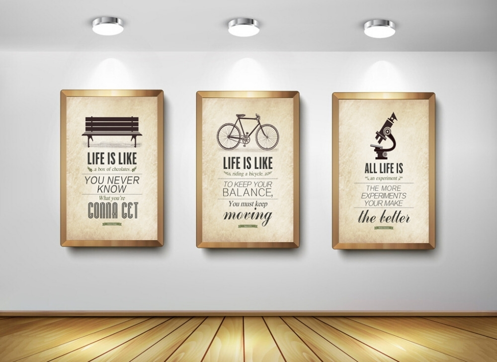 3 Piece Modern Minimalist Bedroom Wall Art Black White with regard to Large Canvas Wall Art Quotes