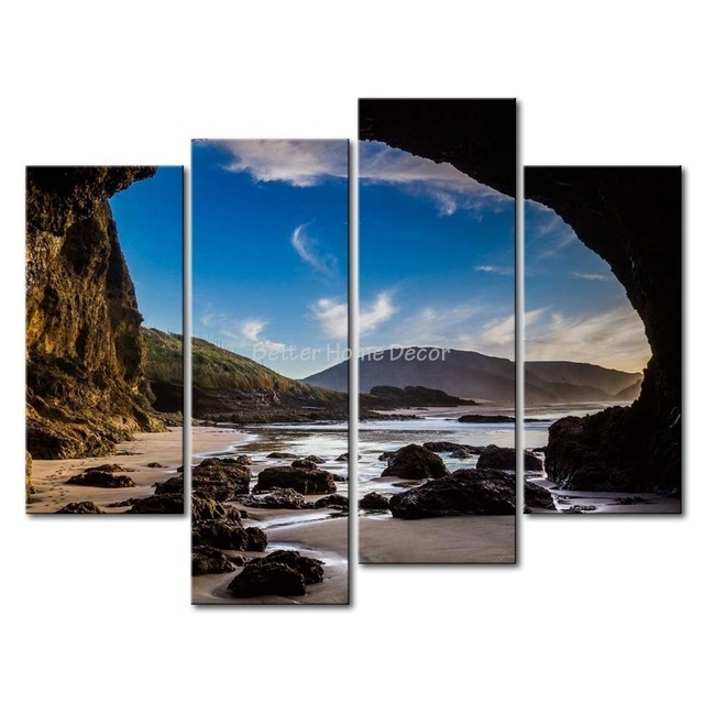 3 Piece Wall Art Painting Auckland New Zealand A Large Cave On With New Zealand Canvas Wall Art (Photo 4 of 15)