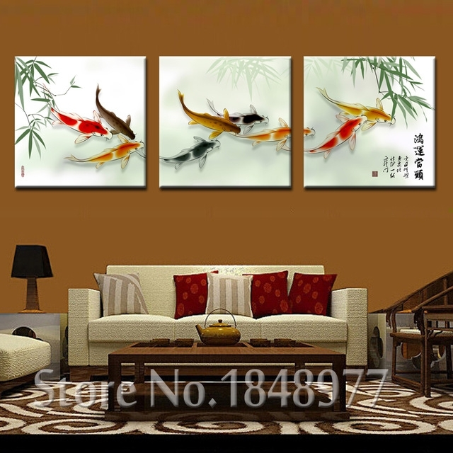 Featured Image of Koi Canvas Wall Art
