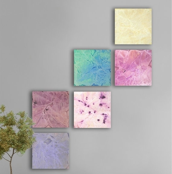 30 Best Art Project Images On Pinterest | Merry Christmas, La La With Pastel Abstract Wall Art (Image 1 of 15)