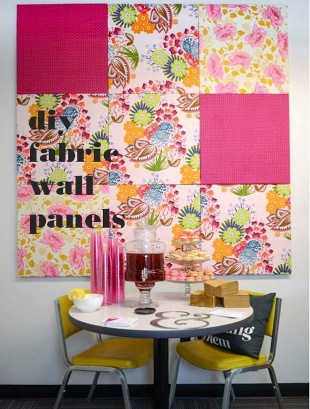 30 Creatively Pink Diy Room Decor Ideas – Diy Projects For Teens For Diy Fabric Wall Art Panels (Image 1 of 15)