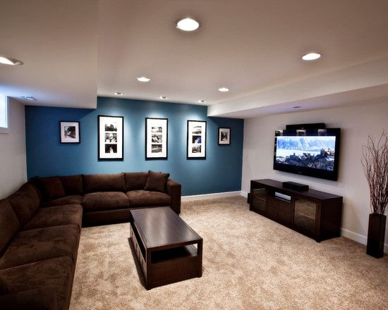 30 Great Design Ideas Of Living Rooms With Accented Walls Inside Basement Wall Accents (Photo 2 of 7)