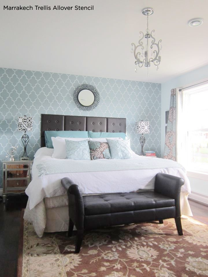 30 Inspiring Accent Wall Ideas To Change An Area | Navy Nursery Regarding Light Blue Wall Accents (Image 3 of 15)