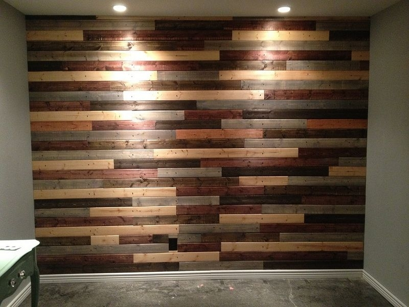 30 Inspiring Accent Wall Ideas To Change An Area | Pallets, Woods With Regard To Wall Accents With Pallets (Image 4 of 15)