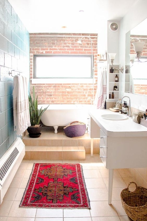 30 Trendy Brick Accent Wall Ideas For Every Room – Digsdigs Inside Exposed Brick Wall Accents (Photo 4 of 15)