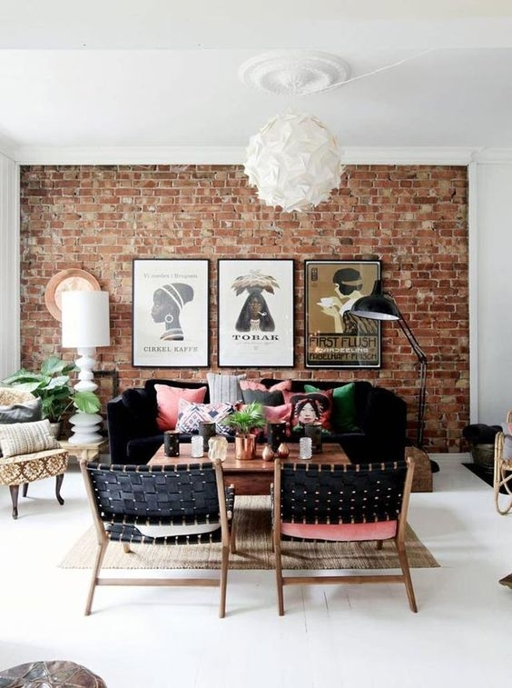 30 Trendy Brick Accent Wall Ideas For Every Room – Digsdigs Pertaining To Brick Wall Accents (Image 3 of 15)