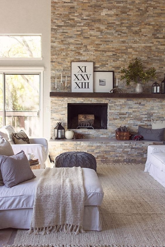31 Stone Accent Wall Ideas For Various Rooms – Digsdigs Regarding Wall Accents For Fireplace (View 15 of 15)