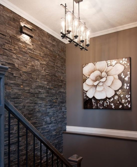 31 Stone Accent Wall Ideas For Various Rooms – Digsdigs With Regard To Entrance Wall Accents (Photo 12 of 15)