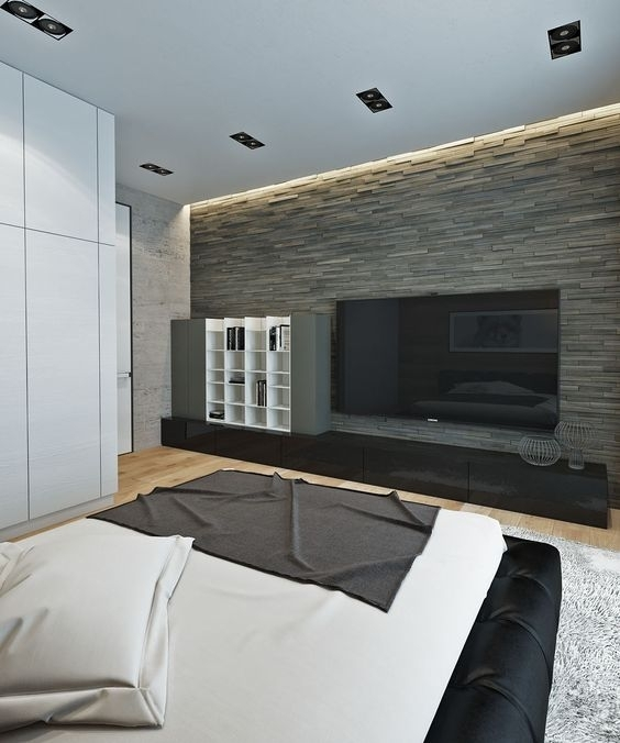 31 Stone Accent Wall Ideas For Various Rooms – Digsdigs With Regard To Wall Accents For Bedroom (Image 3 of 15)
