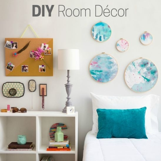 315 Best Wall Decor Diy Projects Images On Pinterest | Room Wall within Fabric Decoupage Wall Art