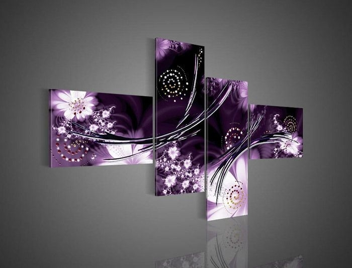 32 Best Wall Art Images On Pinterest | Canvases, Painting Abstract Regarding Canvas Wall Art In Purple (Photo 9 of 15)
