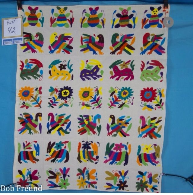 33 Best Otomi Folk Embroidery Images On Pinterest | Folk Regarding Mexican Fabric Wall Art (Photo 6 of 15)
