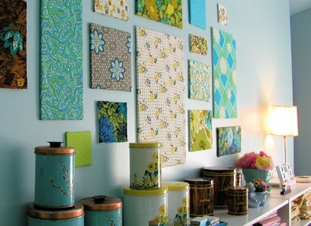 33 Fabric Wall Art Panels, Fabric Wall Panels Mini Homemaker Intended For Fabric Wrapped Wall Art (Image 1 of 15)