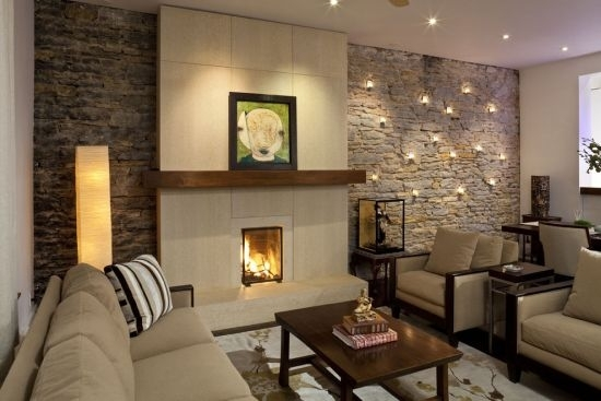 33 Stunning Accent Wall Ideas For Living Room In Wall Accents For Fireplace (Image 5 of 15)