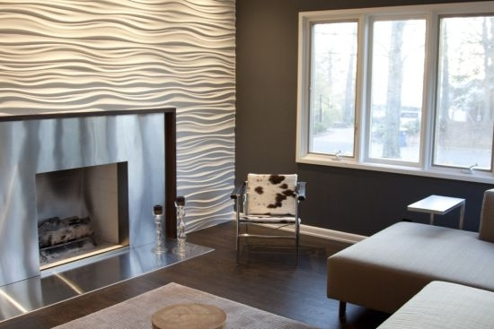33 Stunning Accent Wall Ideas For Living Room Regarding Wall Accents For Fireplace (Photo 11 of 15)