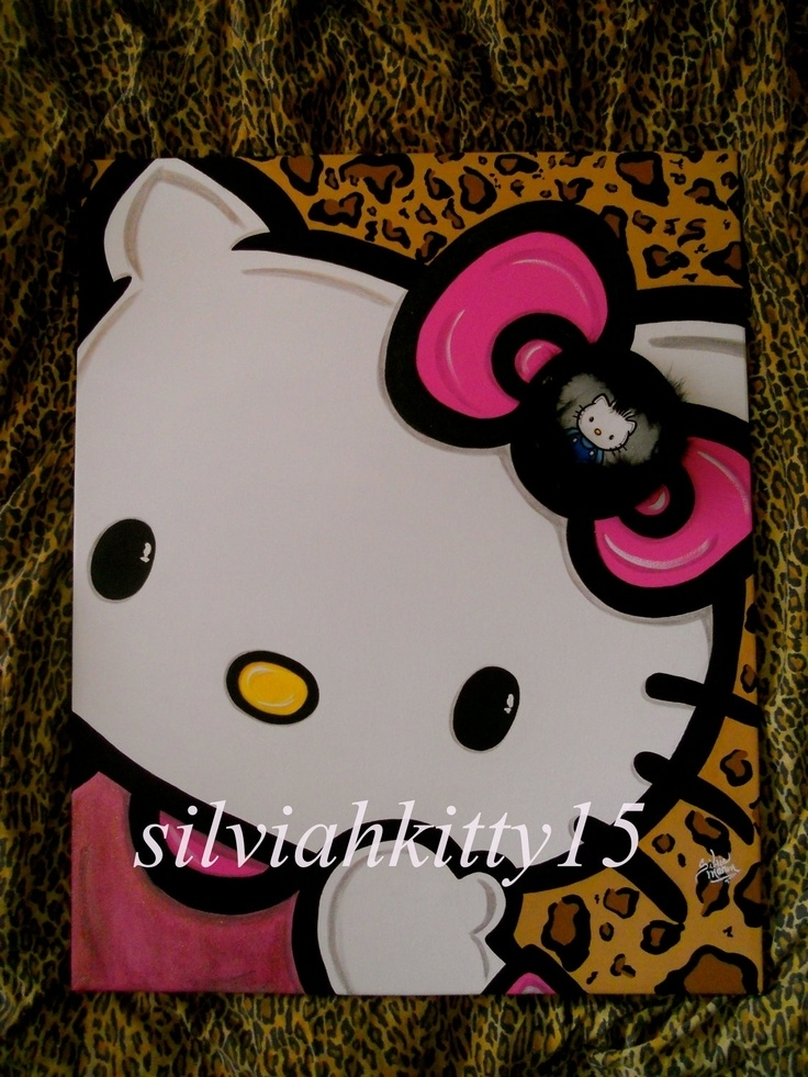 332 Best Canvas Art – Random Images On Pinterest | Canvas For Hello Kitty Canvas Wall Art (Photo 10 of 15)