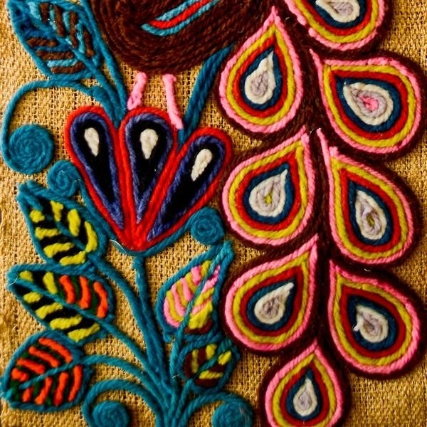 340 Best Patterns And Textures Images On Pinterest | Embroidery For Mexican Fabric Wall Art (Image 6 of 15)