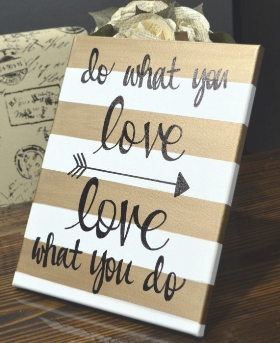 35 Collection Of Canvas Wall Art Quotes Inside Canvas Wall Art Quotes  (Image 2 Of