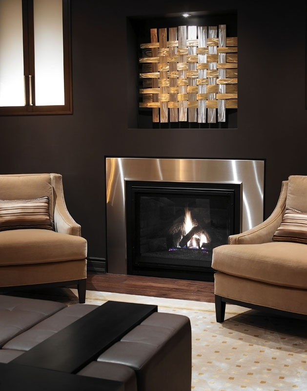 356 Best Contemporary Fireplaces Images On Pinterest | Fire Places Inside Wall Accents For Fireplace (Image 7 of 15)