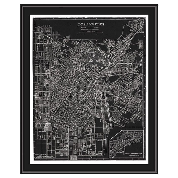 36 Best Framed Maps Images On Pinterest | Framed Maps, Frame And Regarding Los Angeles Framed Art Prints (Image 5 of 15)