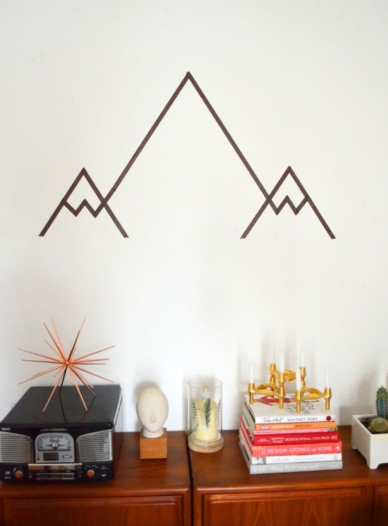 36 Best Washi Tape Wall Decor Ideas Images On Pinterest | Child Pertaining To Geometric Shapes Wall Accents (Photo 13 of 15)