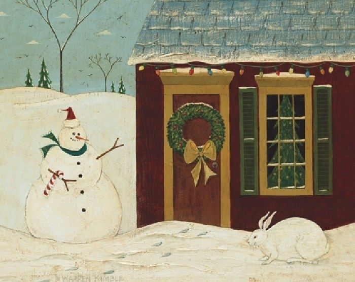 38 Best Warrren Kimble - Folk Artist Images On Pinterest | Naive for Framed Folk Art Prints